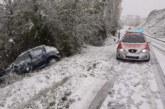 Numerosos accidentes de tráfico el fin de semana marcado por lluvia y nieve