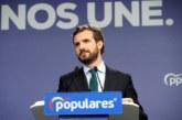 Casado rechaza facilitar un «Gobierno radical» al que hará oposición firme
