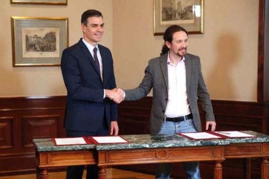 Sánchez e Iglesias subrayan el acuerdo «ilusionante» alcanzado entre ambos