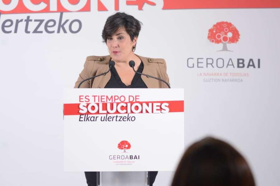 Geroa Bai pide a Chivite que garantice el bilingüismo en Navarra