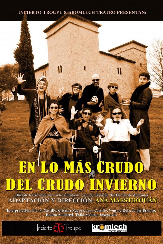 """Viernes 25, representación teatral """"En lo más crudo del crudo invierno"""", en Civivox Mendillorri"""