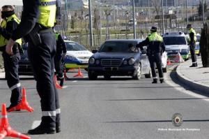 Detenidas ocho personas la semana pasada en Pamplona por conductas contra la seguridad vial
