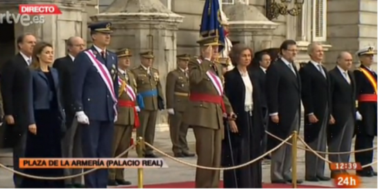 El Rey reaparece en el Palacio real y preside la Pascua Militar