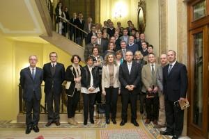 Enrique Maya recibe a los participantes de la Comisión de Trabajo de la Inspección de Trabajo y Seguridad Social