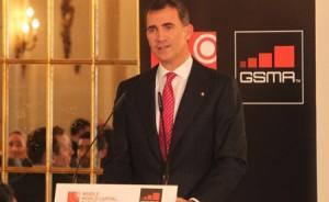 El Príncipe Felipe abre el Congreso Mundial del Móvil en Barcelona