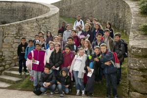47 Escolares de Bayona visitan Pamplona por un sistema de intercambio del programa Fortius
