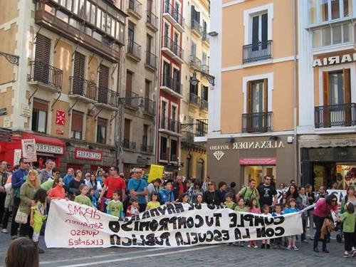 """Familias de Sarriguren pide nuevo Colegio por cuestión de """"espacio"""""""