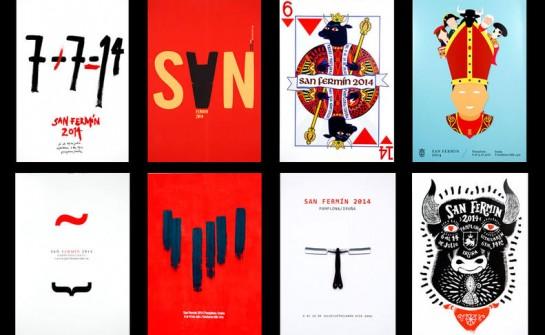 104 carteles del concurso de San Fermín, en la sala de Conde Rodezno del 20 de junio al 20 de julio