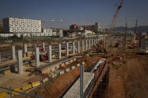 Detenidas 10 personas por presunta malversación de fondos en las obras del AVE en Barcelona