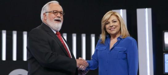 Miguel Arias Cañete y Elena Valenciano. (EFE)