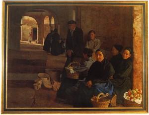 Javier Ciga, El mercado de Elizondo. (Ayuntamiento de Pamplona).