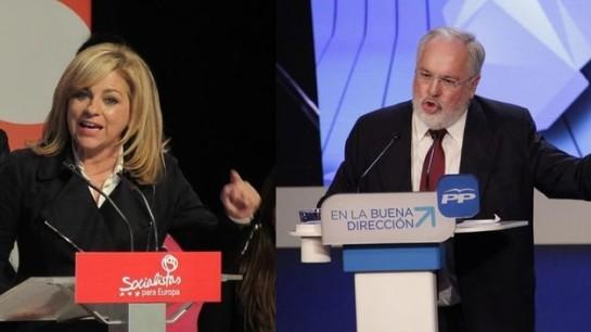 El debate cara a cara entre Valenciano (PSOE) y Cañete (PP), TVE-1 (22:30), durante 57 minutos