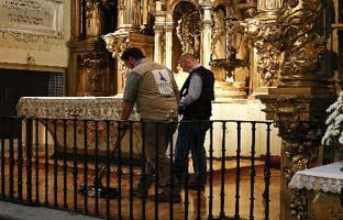 El georadar confirma la existencia de 30 nichos en las Trinitarias donde buscan los restos de Cervantes