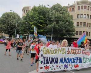 Manifestación de homosexuales en Pamplona
