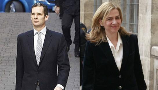 Iñaki Urdangarín y cristina de Borbón, llegando a los Juzgados de Palma.