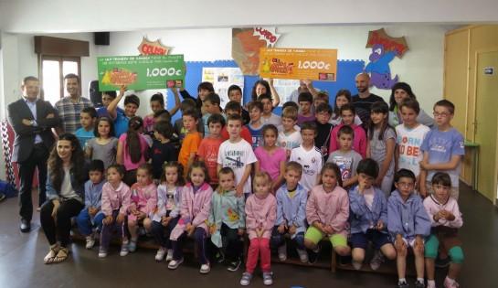 """El colegio Público de Aibar recoge el galardón """"ternera de Navarra"""""""