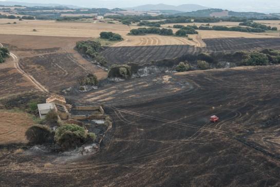 El incendio de Ujué tuvo origen en labores agrícolas