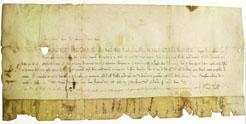 El Archivo de Navarra restaura una bula pontificia concedida a la iglesia Santa María de Viana en 1312