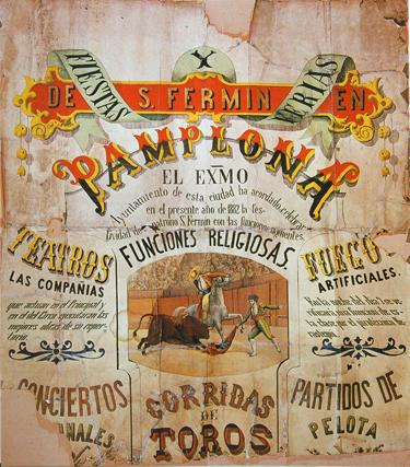 San Fermín del siglo XIX al XXI en 50 carteles
