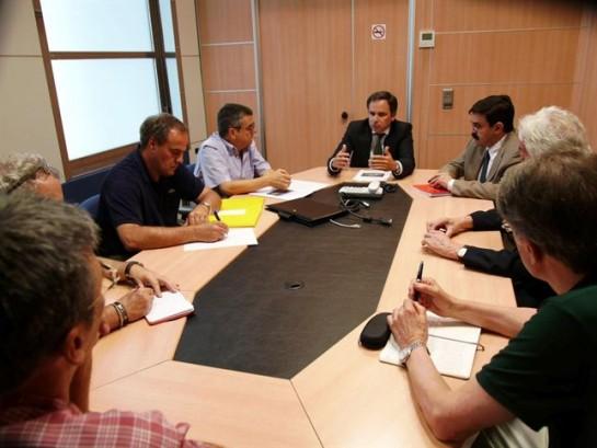 """El presidente de la CHE reitera la """"total seguridad"""" de Yesa"""