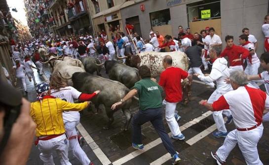 Sin novedad en el séptimo encierro de los Sanfermines con toros de Adolfo Martín