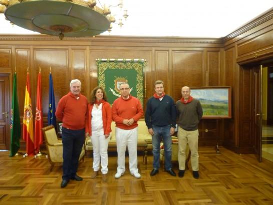 Maya recibe en el ayuntamiento a los delegados del Gobierno en Navarra, País Vasco, La Rioja y Aragón