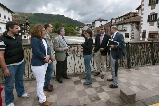 Valorados en 1,6 millones de euros los daños en infraestructuras locales en Baztan y Valcarlos