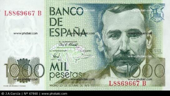 Los españoles todavía cuentan con 1.669 millones de euros en pesetas