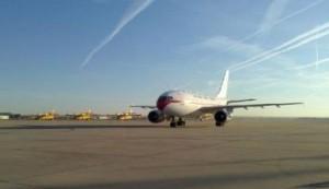 El avión que ha repatriado a Pajares, en Torrejón. / Ministerio de defensa