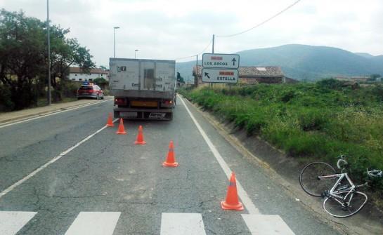 Ciclista muerto en Acedo