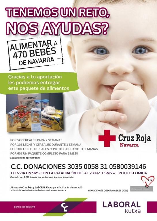 Cruz Roja Navarra y Kutxa consiguen alimentar a más de 600 bebés
