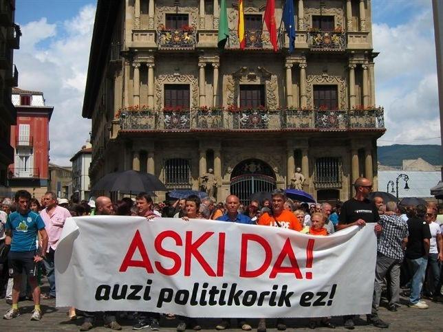 Concentración en Pamplona contra la sentencia de las 'herriko taberna'
