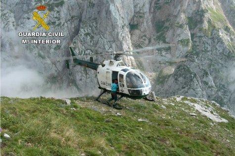 La Guardia Civil rescata a una mujer herida en una caída en la sierra de Leyre