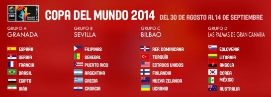 24 selecciones participan en el Mundial de España 2014. (FEB).