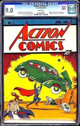 Se vende el primer cómic de Superman por 3,2 millones dólares
