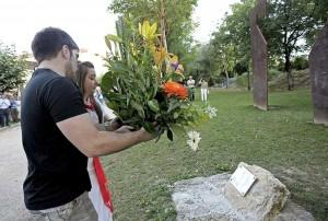 Homenaje al subteniente Casanova en Berriozar. EFE