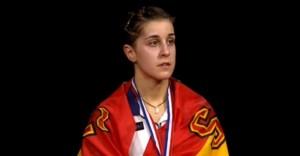La jugadora de bádminton Carolina Marín, campeona europea y del mundo de Badminton.