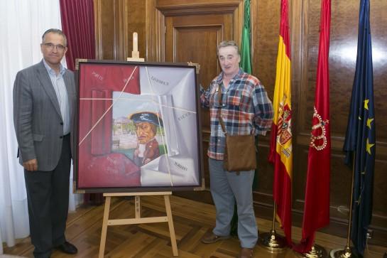 Antonio Laita dona al Ayuntamiento de Pamplona su óleo 'Quiero ser como Sarasate'