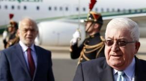 El presidente iraquí, Fuad Masum, a su llegada a París. (AP)