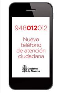 Cartel del nuevo teléfono de atención ciudadana.. Foto: Gob. de Navarra