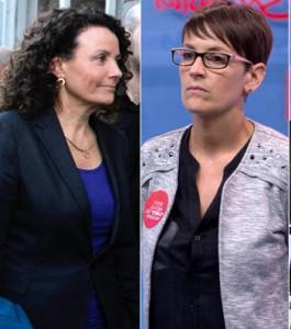 Izda-dcha) Amanda Acedo y María Chivite. PSN