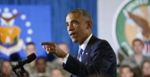 El presidente estadounidense, Barack Obama en la base aérea de MacDill de Tampa, en Florida