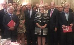Goicoechea expone la reforma fiscal de Navarra a empresarios afincados en Madrid