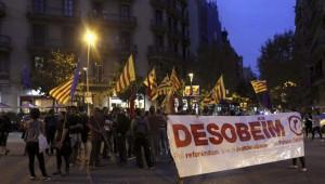 Manifestación de desobediencia al TC.