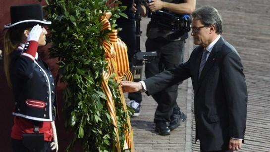 Cataluña celebra la Diada con movilizaciones a favor y contra la secesión