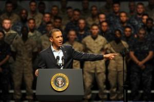 Obama se dirige a las tropas