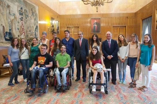 """Ocho estudiantes participan en el programa """"Campus inclusivos, campus sin límite"""" de la Universidad de Navarra"""