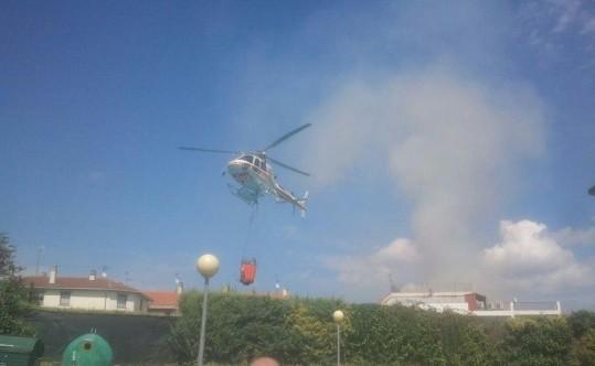 Controlado el incendio producido en Garínoain durante las fiestas