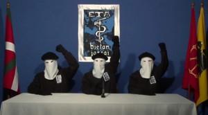 Tres miembros de la banda terrorista ETA.