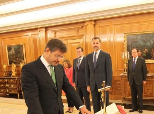 Rafael Catalá jura ante el Rey como nuevo ministro de Justicia